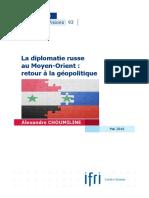 La diplomatie russe au Moyen-Orient