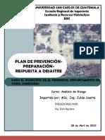 Plan de Prevencion y Preparacion a Desastres en El Progreso Yoro