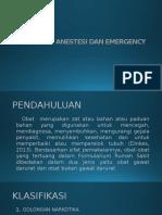Obat-obat Anestesi Dan Emergency