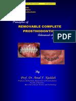 Principles of Complete Denture Prosthodontics