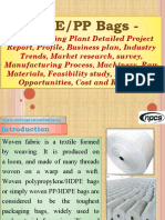 HDPE/PP Bags - Manufacturing Plant Detailed Project Report, Profile, Business plan, Industry Trends, Market research, survey, Manufacturing Process, Machinery, Raw Materials, Feasibility study, Investment Opportunities, Cost and Revenue