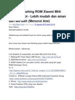 Tutorial Flashing ROM Xiaomi Mi4i via Fastboot