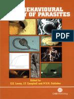 Behavioural Ecology of Parasites (1)