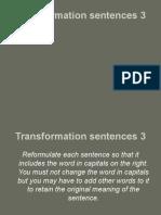 Transformation Sentences 31
