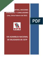 Conclusiones de la VIII Asamblea nacional de delegados CGTP