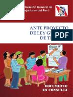 Propuesta CGTP de Ley General de Trabajo (En discusión)
