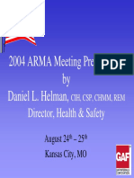 ARMA Presentation GAF EHS Management System