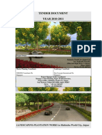 Tender for Landscape Plantation Works