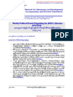 Weekly Political Events Regarding the SPDCs Election (015-2010)