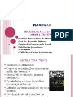 Assessoria de Imprensa - Media Training