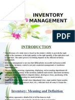 Inventory Management - F