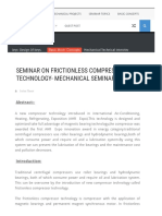 Seminar on Frictionless Compressor Technology- Mechanical Seminar Topic _ Mechanical Engineering World _ Project Ideas _ Seminar Topics _ E-books (PDF) _ New Trends