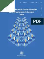 Recomendaciones internacionales para estadísticas de turismo 2008