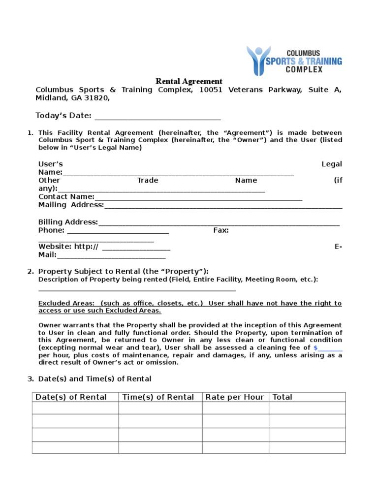 Rental Agreement Indemnity Insurance