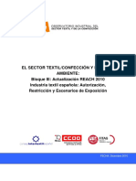 El Sector Textil Confeccion y El Medio Ambiente Actualizacion Reach 2010