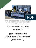 ¡La violencia no tiene género...!