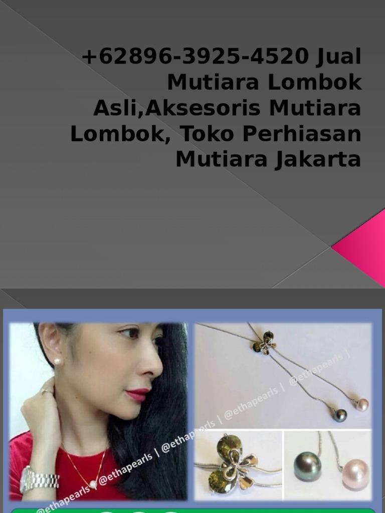 62896 3925 4520 Jual Mutiara Lombok Asliaksesoris 1 Set Perhiasan Rhodium Toko Jakartapptx