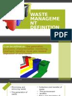 Waste Management Definition