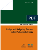 Budget and Budgetary Process in the Parliament of India