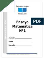 Ensayo Nº 1 2016 de matematicas PSU