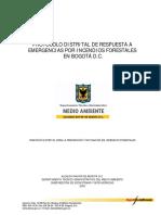 Protocolo Distrital de Respuesta a Emergenciasporincendiosforestales
