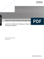 Hitachi White Paper Solve the Top Six Enterprise Storage Issues