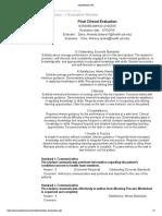 preceptorship final evaluation