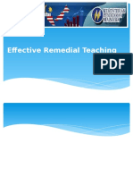 1. Effective Remedial Teaching