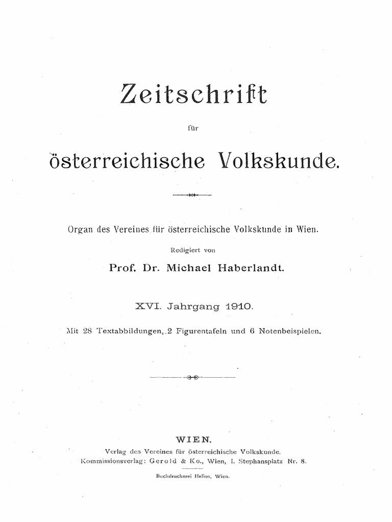 Zeitschrift für österreichische Volkskunde_1910