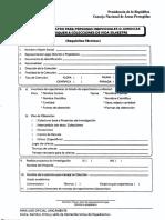 Coleccion Formulario Solicitud Registro