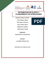 Distribución y Planeamiento de Operaciones