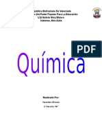 Trabajo Quimica. Yexander Olivares 3 M