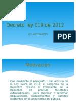 Decreto Ley 019 de 2012 INFORME IJ