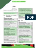 igcse revision checklist