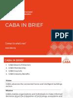 CABA in Brief Presentation