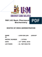 Pharmaco Routes of Drug Admistration