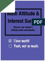 math attitude and interest survey