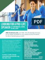 MedSFL Speakers Flyer 2016