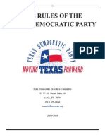 Texas Democratic Party (TDP) Rules
