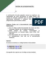Como Documentar en Programación