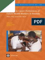Diversity In Career Preferences Of Future Health Workers Rwanda