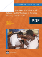 Diversity in Career Preferences of Future Health Workers in Rwanda