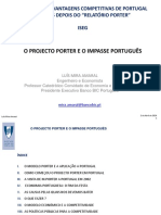 O Projecto Porter e o Impasse Português ISEG 2 Abril 2014