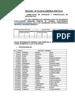 Comunicado Nº 03 2016 Direed Pnp