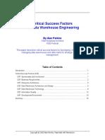 Critical Success Factors for DWH