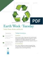 earth week newletter- tuesday