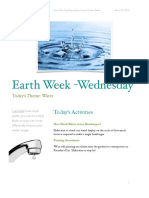 earth week newsletter wednesday