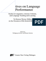 Perspectives on Language in Performance