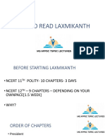 How to Read Laxmikanth