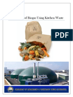 Biogas From Kitchen Waste Full Report